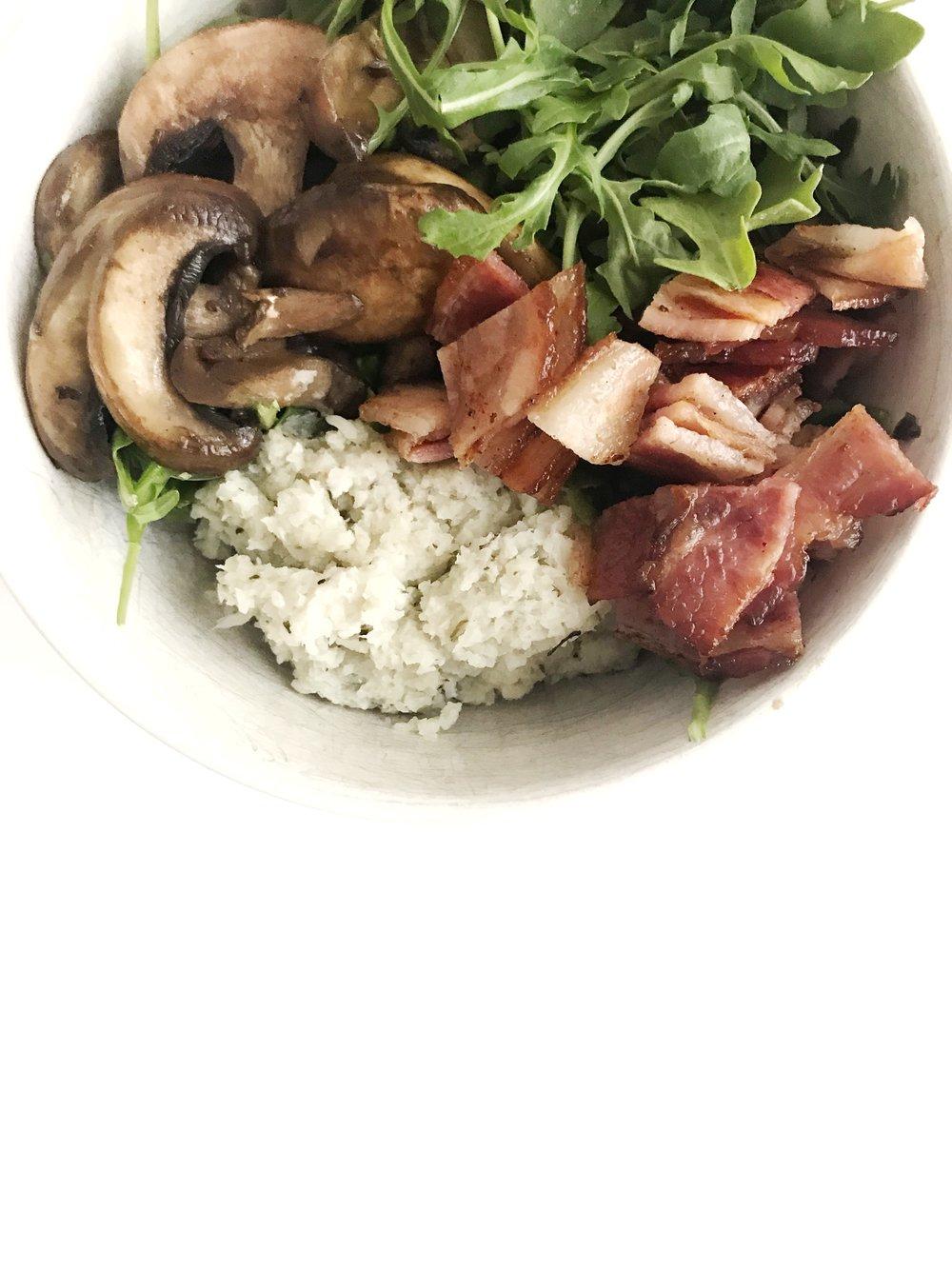 bacon & veggie breakfast bowl (AIP, GAPS, GF, DF, Paleo)