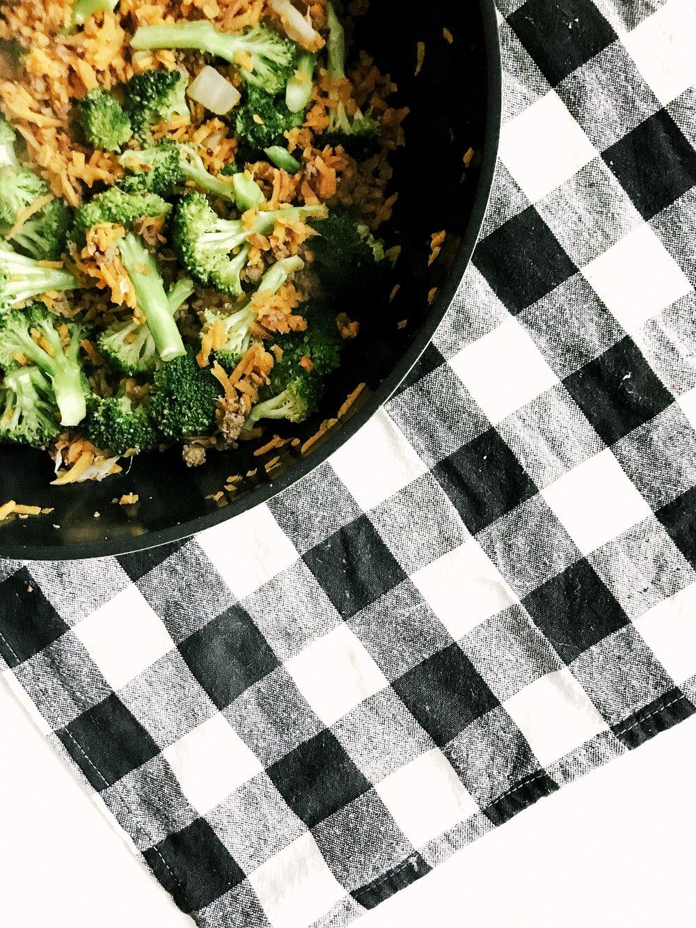 beef, broccoli & sweet potato skillet (aip, gluten-free, dairy-free, paleo)