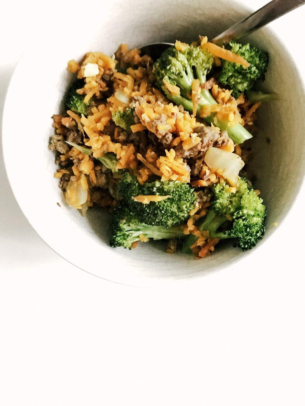 beef, broccoli & sweet potato bowl (30-minute meals)