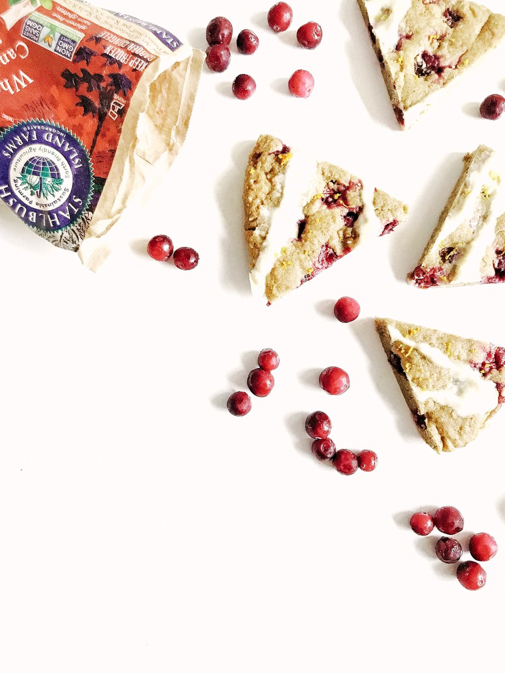 orange cranberry christmas scones (aip, paleo, gluten-free, dairy-free)