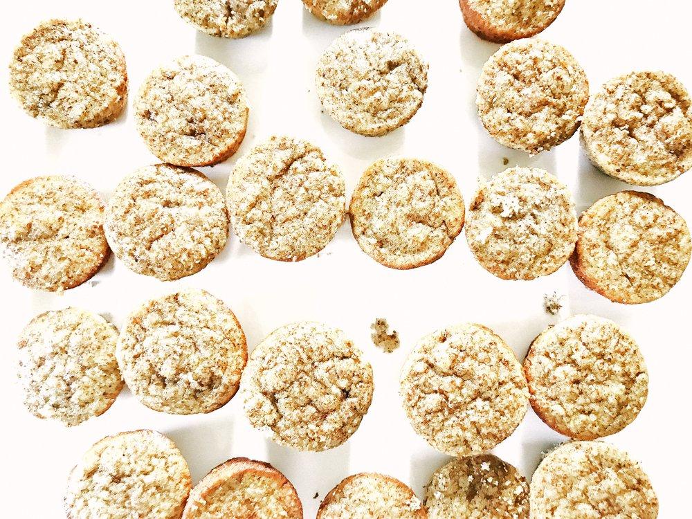 Gluten-Free, Dairy-Free, Nut-Free, Paleo Snack - Banana Mini Muffins