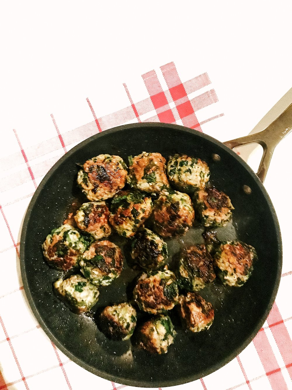 Chimichurri Meatballs (AIP, GAPS, Paleo, Gluten-Free, Dairy-Free, Egg-Free) - 30 minute dinner recipe