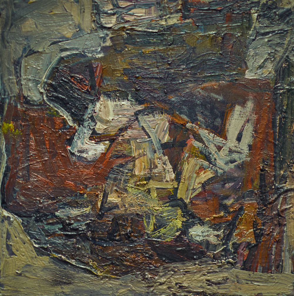 """UNTITLED #304,  (date unknown) OIL ON CANVAS, 14"""" x 14"""" (HAS496)"""