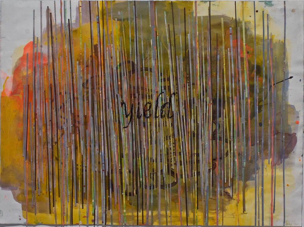 "YIELD , 2010 MIXED MEDIA ON PAPER, 22"" x 30"" (HAS100)"