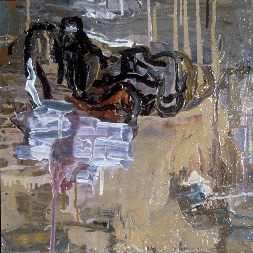 "UNTITLED , 1989  OIL ON CANVAS, 16"" x 16"" (HAS516)"