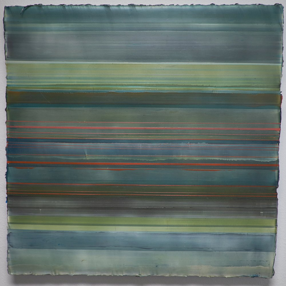 "PULSE (BETWEEN/BEYOND) UNTITLED #9 , 2008  ACRYLIC ON CANVAS, 30.25"" x 30.5"" (HAS494)"