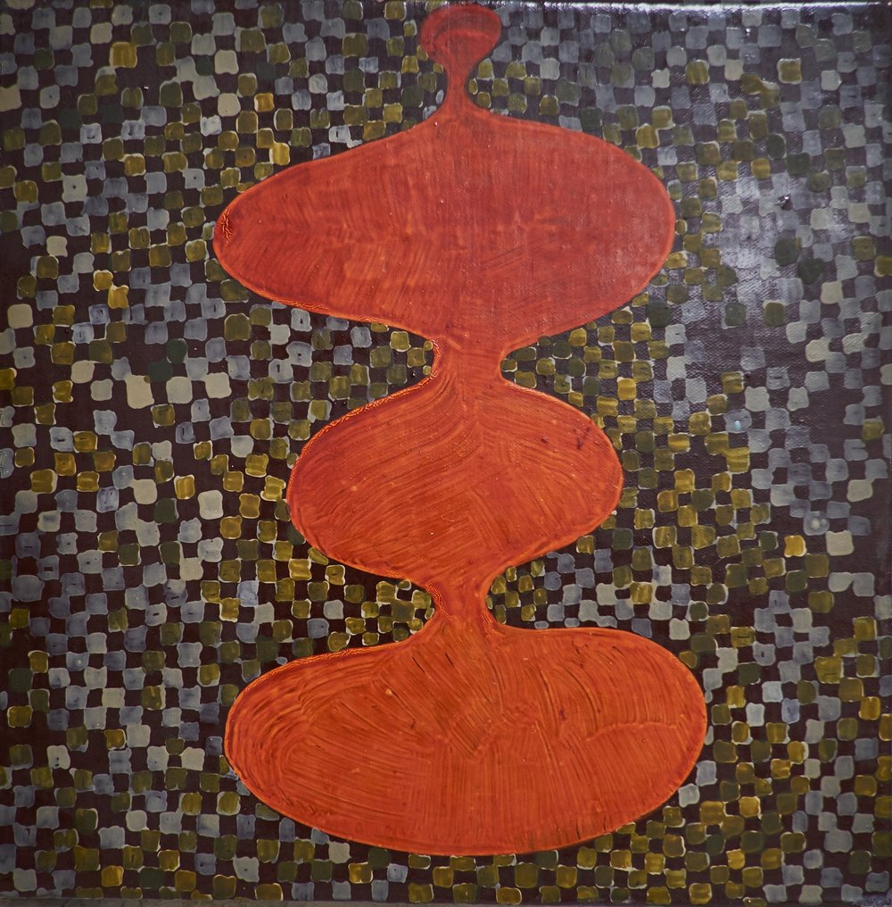 "UNTLTLED #345 , (date unknown)  ACRYLIC ON CANVAS, 10.25"" x 10.25"" (HAS973)"