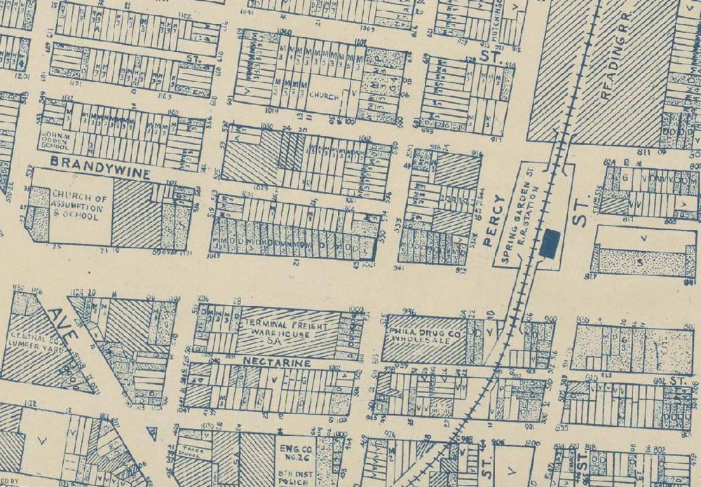 Land Use map of Spring Arts circa 1942.