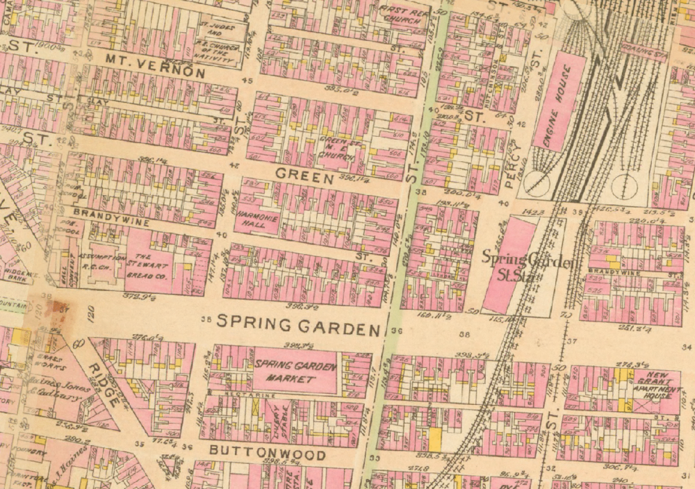 Land Use map of Spring Arts circa 1910.