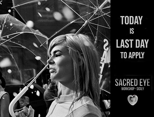 Just a few hours to go! Apply now donnaferrato.com/workshops #sacredeye #photoworkshop