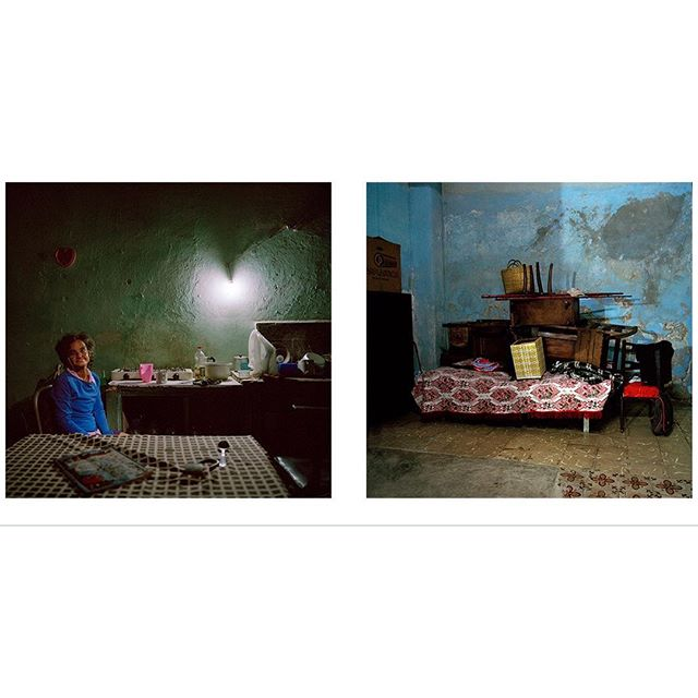 "Tommasa and her home in Havana, January 2016. ""I live here alone, everyone else died in my family."" We welcome photographer Carolina Sandretto @carolina_sandretto_photo to Sacred Eye Sicily. This diptych is from her project ""Vivir Con,"" a project she developed over four years in Cuba, depicting families and their way of life."