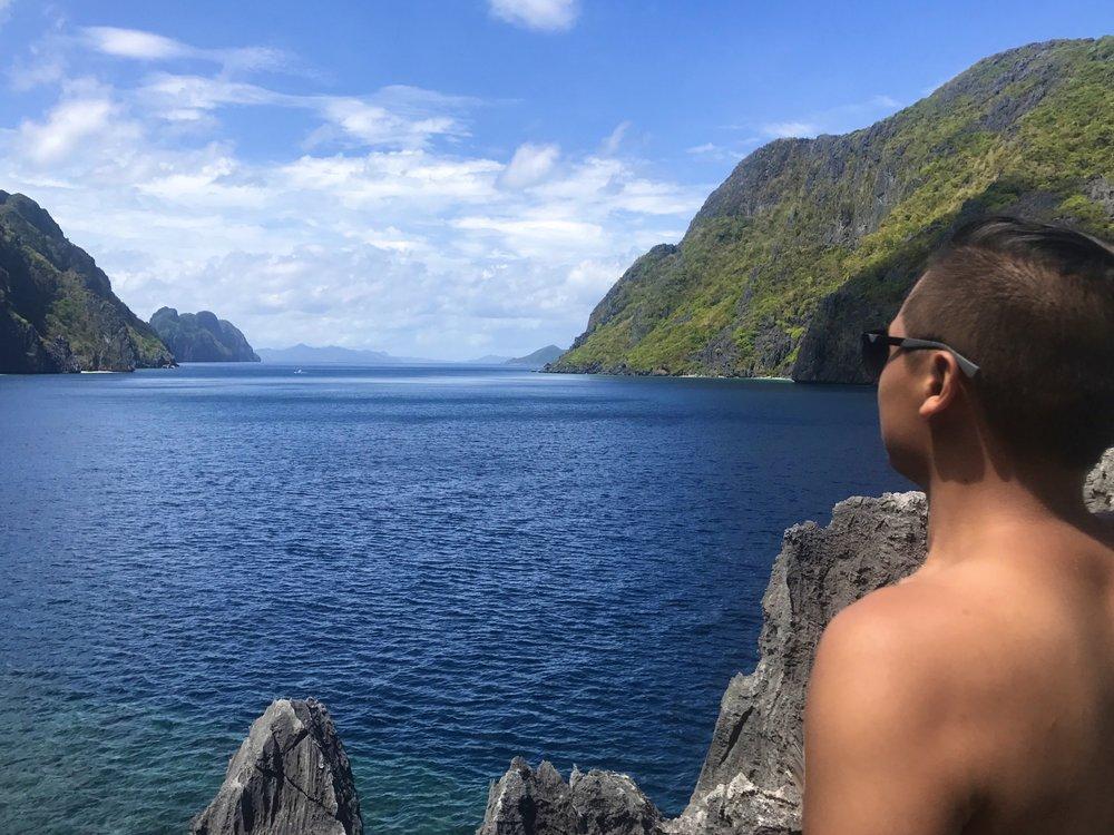 Bryant overlooking ocean