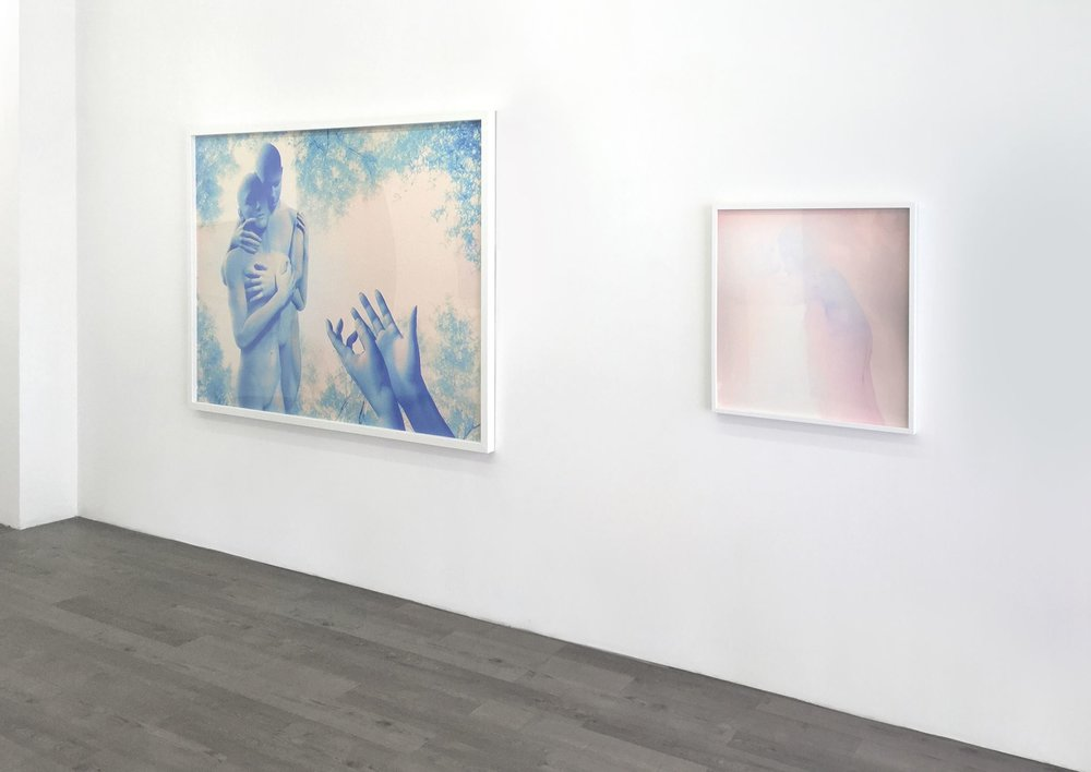 installation view from Caressing Form and Void