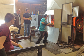 Glass blowing, Holdman Studios