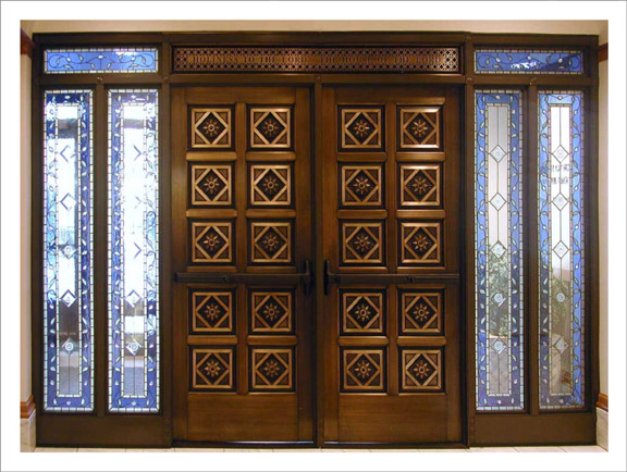 Holdman_Studio_Stained_Art_Glass_ LDS_Mormon_Manhattan_New_York_Temple_Entry_Door_Transom_Sidelights_Leaves_Sun.jpg