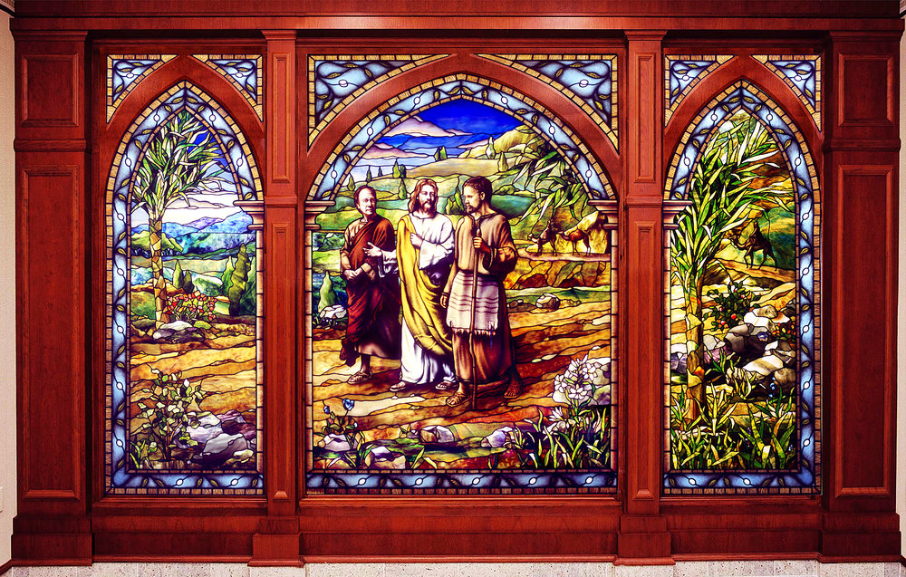 Holdman_Studio_Stained_Art_Glass_ LDS_Mormon_Manhattan_New_York_Temple_Lobby_Christ_on_the_Road_to_Emmaus_Window.jpg