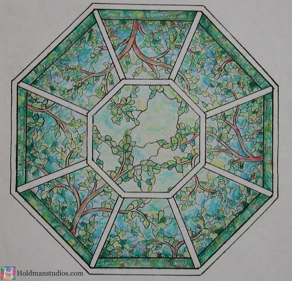 Holdman_Studios_Stained_Art_Glass_LDS_Mormon_Palmyra_New_York_Temple_Sacred_Grove_Tree_of_Life_Skylight_Artist_Sketch.JPG