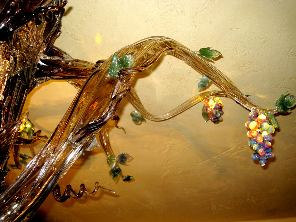 6 Holdman Studio Art and Hot Blown Glass Chandelier Gallery Tuscany Restaurant.jpg