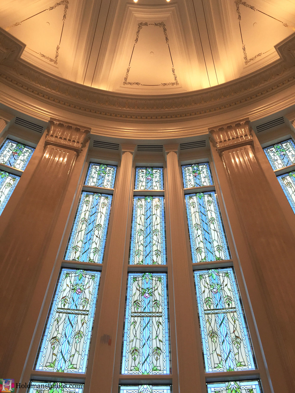 Holdman_Studios_Stained_Art_Glass_Payson_Utah_Temple_Apple_Blossoms_Leaves_DNA_Spiral_Windows.jpg