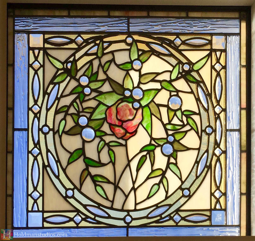 Holdman_Studios_Stained_Art_Glass_Payson_Utah_Temple_Apple_Blossom_Leaves_Window_Closeup.jpg