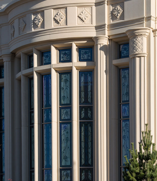 Holdman_Studios_Stained_Art_Glass_Payson_Utah_Temple_Apple_Blossoms_Leaves_DNA_Spiral_Exterior_Windows_Crop.jpg
