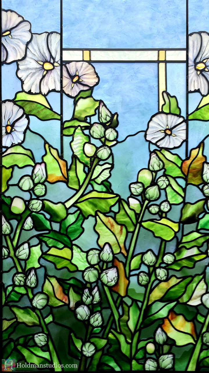 Holdman-Studios-Stained-Glass-Paris-LDS-Temple-Cornflower-Blue-Lily-Flowers-Buds-Leaves-Window.jpg