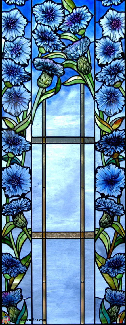 Holdman-Studios-Stained-Glass-Paris-LDS-Temple-Cornflower-Blue-Lily-Flowers-Leaves-Windows.jpg