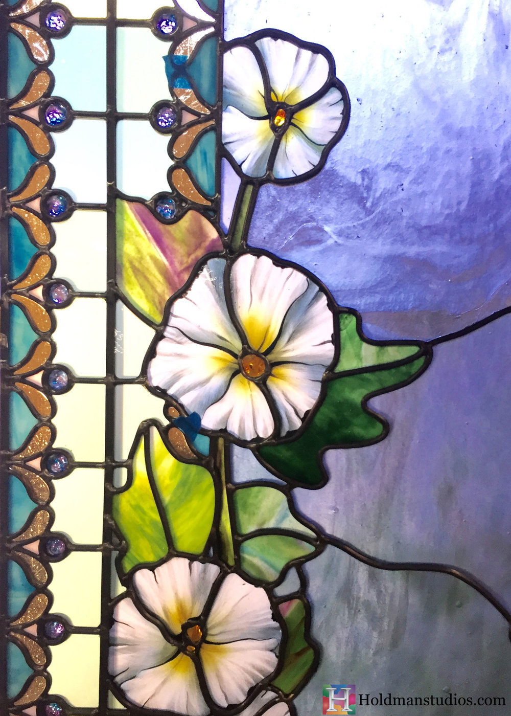 Holdman-Studios-Stained-Glass-Paris-LDS-Temple-Cornflower-Blue-Lily-Flowers-Leaves-Windows-Crop.jpg