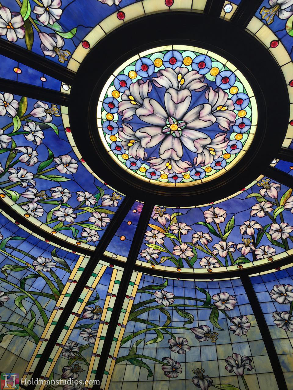 Holdman-Studios-Stained-Glass-Paris-LDS-Temple-Martagon-Lily-Flowers-Sun-Moon-Stars-Grand-Skylight-Window-Crop.jpg