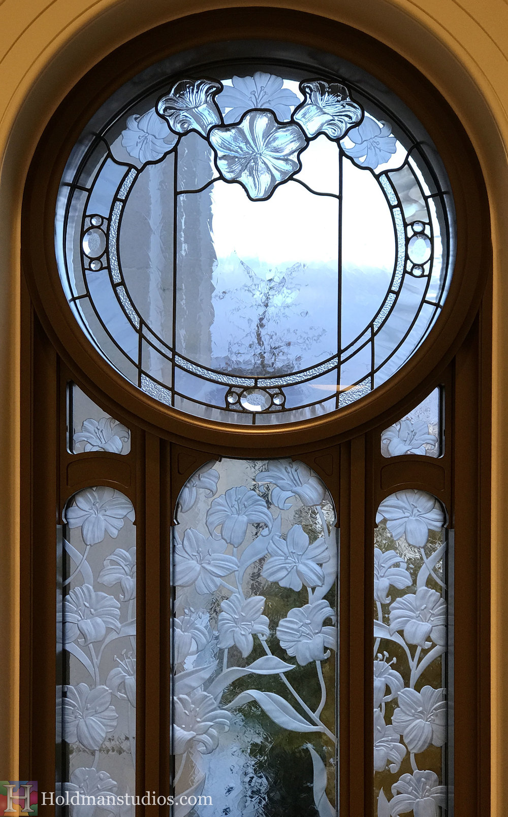 Holdman-Studios-Stained-Etched-Cast-Glass-Paris-LDS-Temple-Martagon-Madonna-Lily-Flowers-Buds-Leaves-Round-Window.jpg