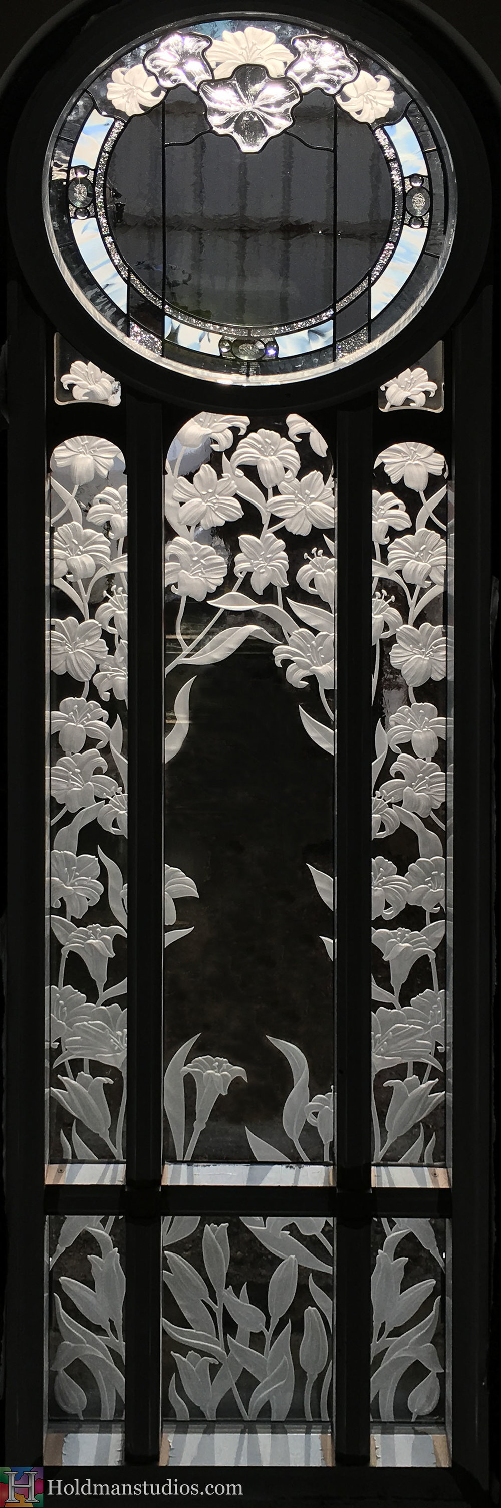 Holdman-Studios-Stained-Etched-Cast-Glass-Paris-LDS-Temple-Martagon-Madonna-Lily-Flowers-Leaves-Window.jpg