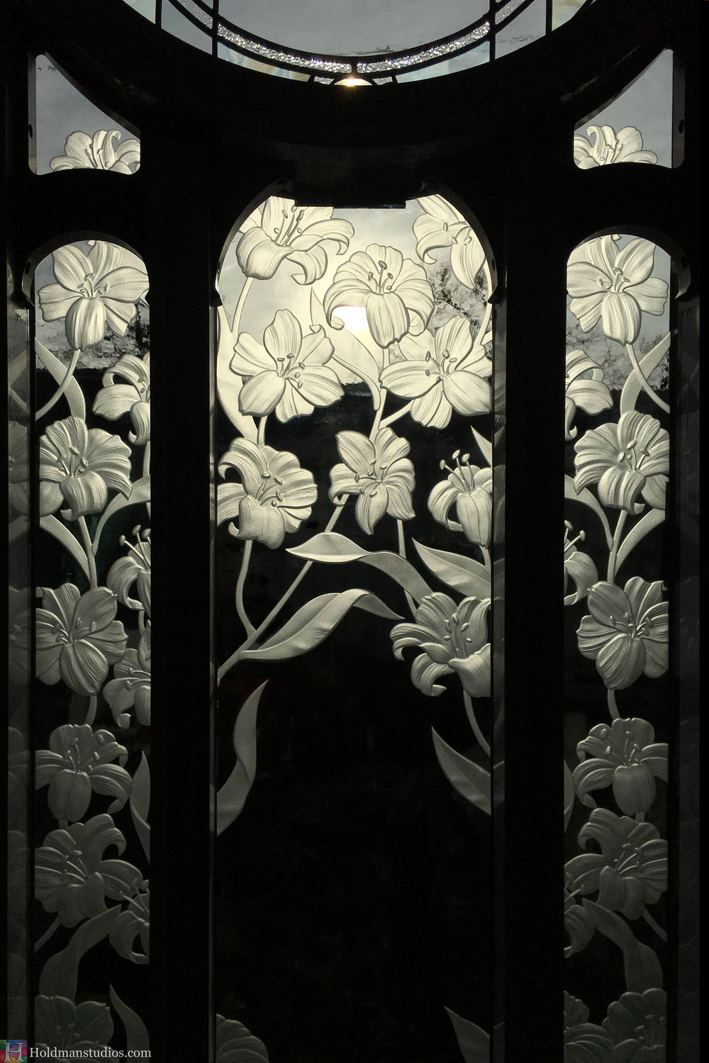 Holdman-Studios-Stained-Etched-Glass-Paris-LDS-Temple-Martagon-Madonna-Lily-Flowers-Leaves-Window.jpg