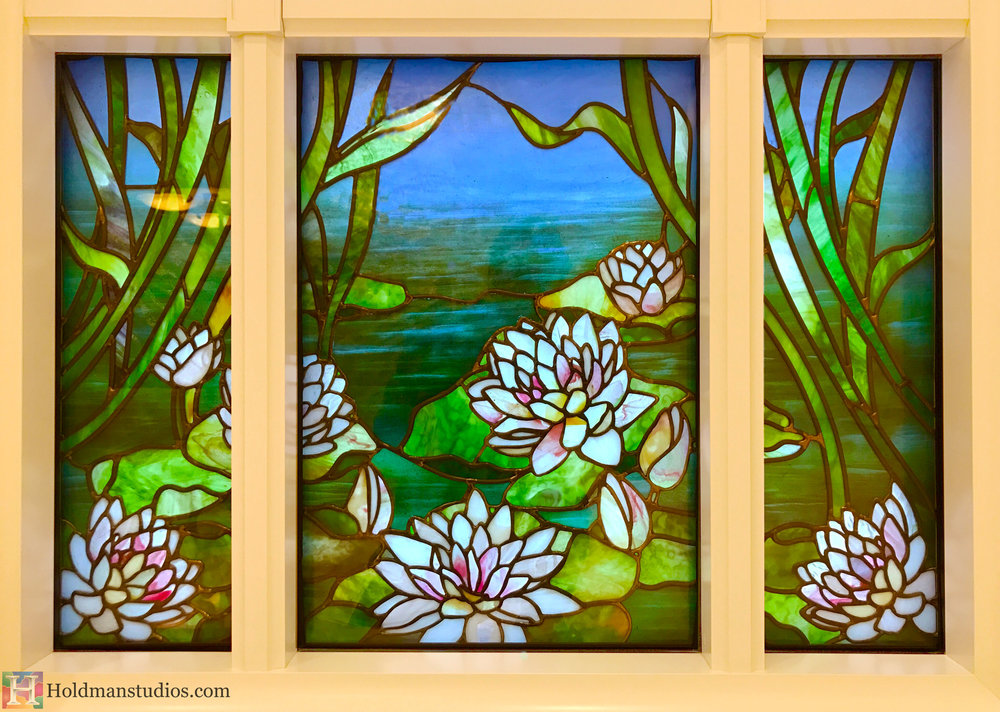 Holdman-Studios-Stained-Glass-Paris-LDS-Temple-Madonna-Water-Lily-Pads-Flowers-Leaves-Water-Windows.jpg