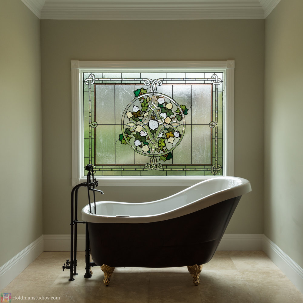 Holdman-Studios-Stained-Beveled-Painted-Glass-Bathroom-Window-Celtic-Knot-Roses-Leaves.jpg