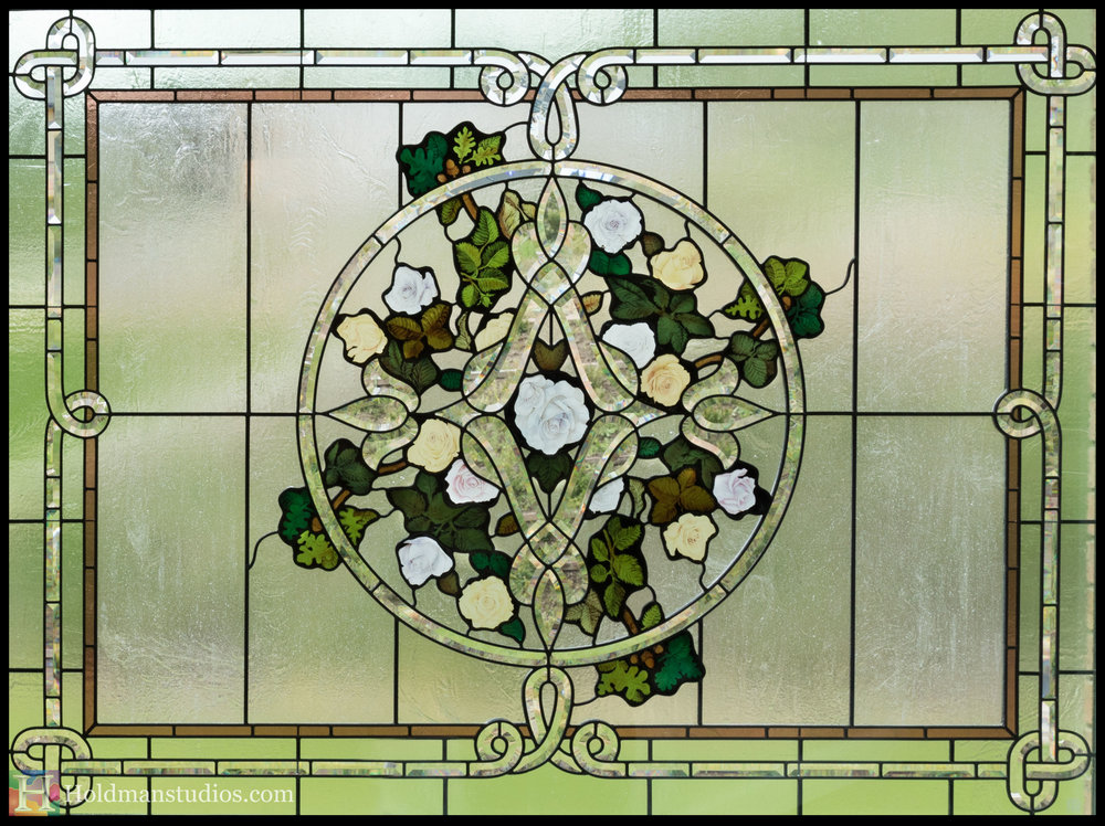 Holdman-Studios-Stained-Beveled-Painted-Glass-Window-Celtic-Knot-Roses-Leaves.jpg