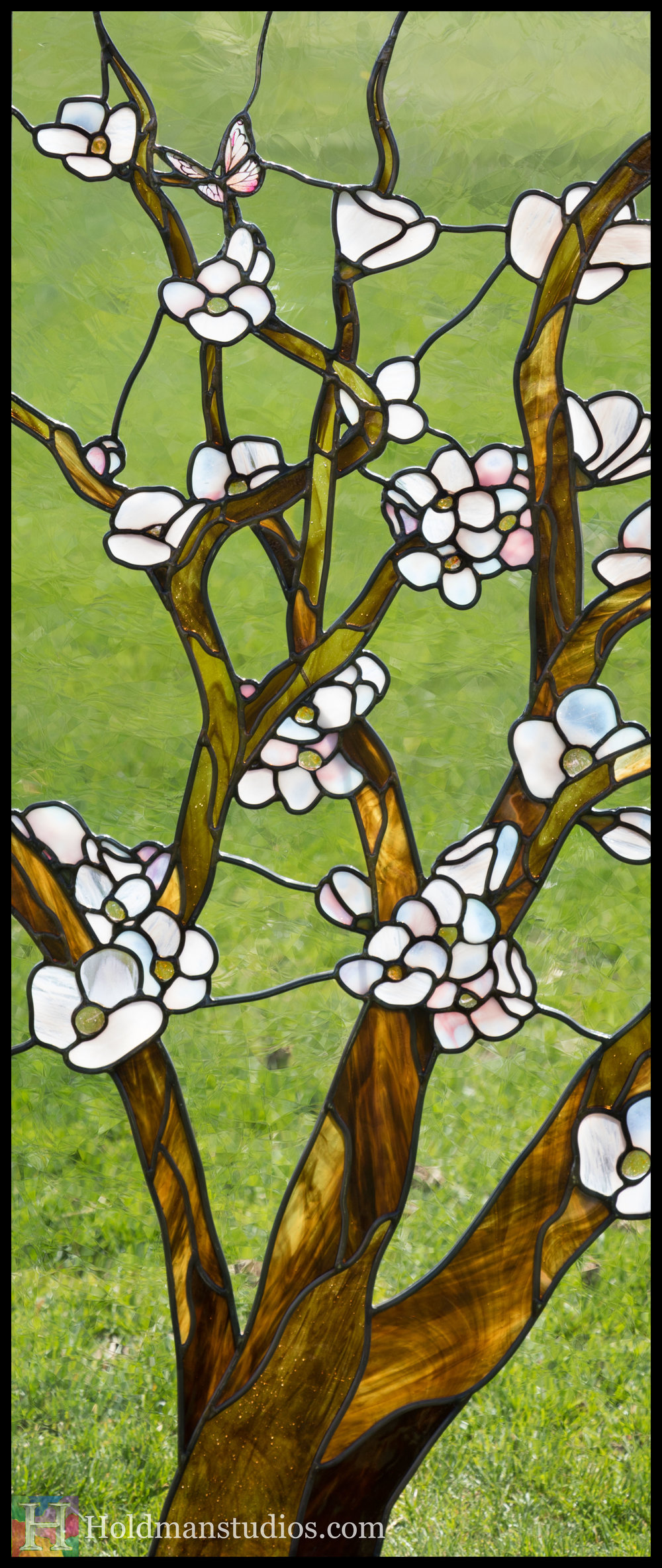 Holdman-Studios-Stained-Glass-Window-Cherry-Tree-Branches-Blossom-Flowers-Butterfly-Grass-Left.jpg