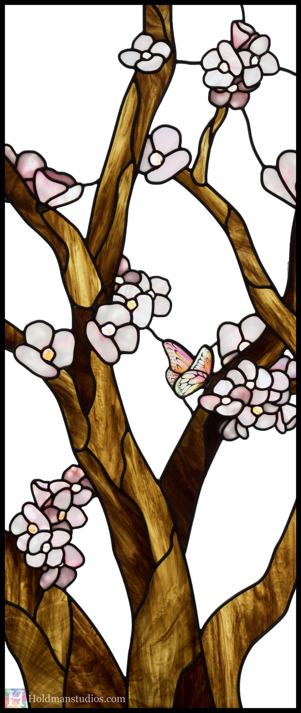 Holdman-Studios-Stained-Glass-Window-Cherry-Tree-Branches-Blossom-Flowers-Butterfly-Right.jpg