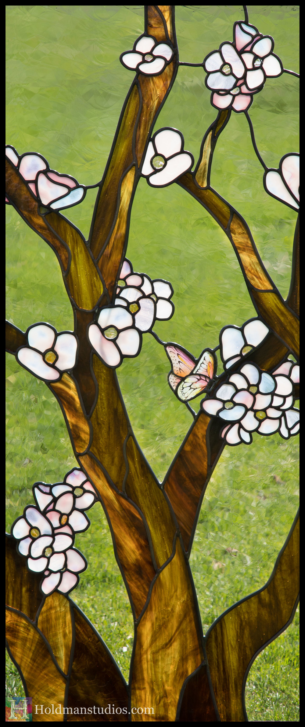 Holdman-Studios-Stained-Glass-Window-Cherry-Tree-Branches-Blossom-Flowers-Butterfly-Grass-Right.jpg
