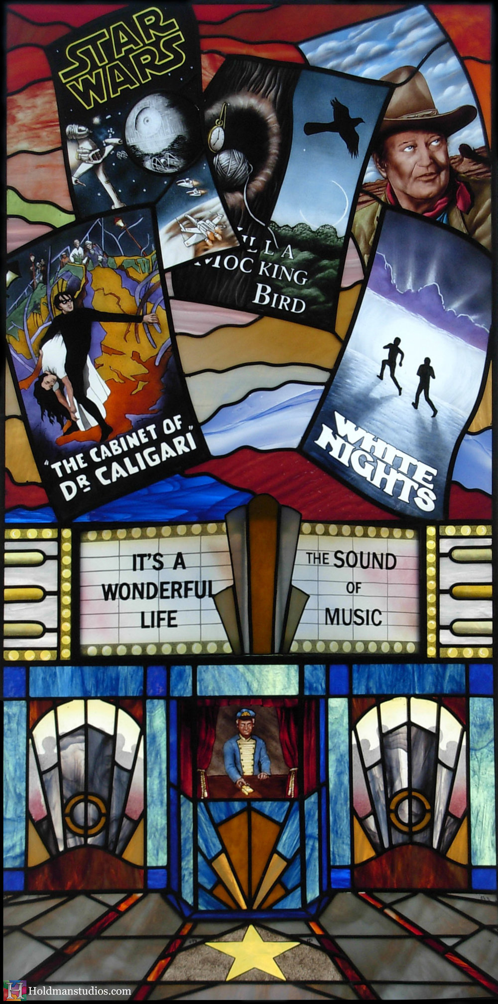Holdman-Studios-Stained-Glass-Window-Movie-Theater-People-Posters
