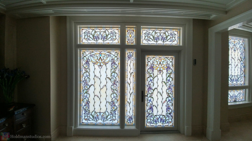 Holdman-Studios-Stained-Glass-Bathroom-Windows-Flowers-Floral-Pattern-Handmade-Jewels-Square-Rectangles.jpg