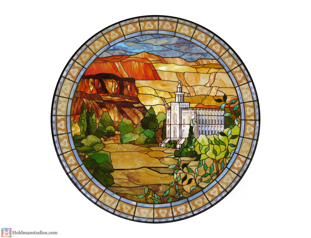 holdman-studios-stained-glass-window-st-george-town-square-lds-temple-mountains-trees-flowers-sky.jpg