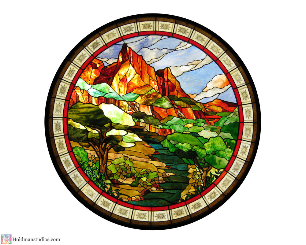holdman-studios-stained-glass-window-st-george-town-square-river-mountains-trees-flowers-sky-clouds-turtles.jpg