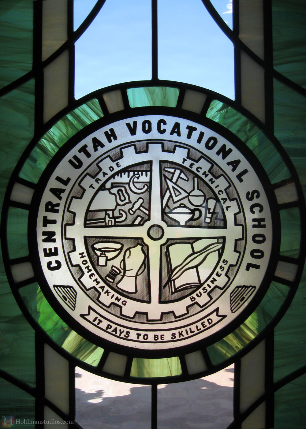 Holdman-studios-stained-etched-glass-front-door-window-utah-valley-university-alumni-house-crop.jpg