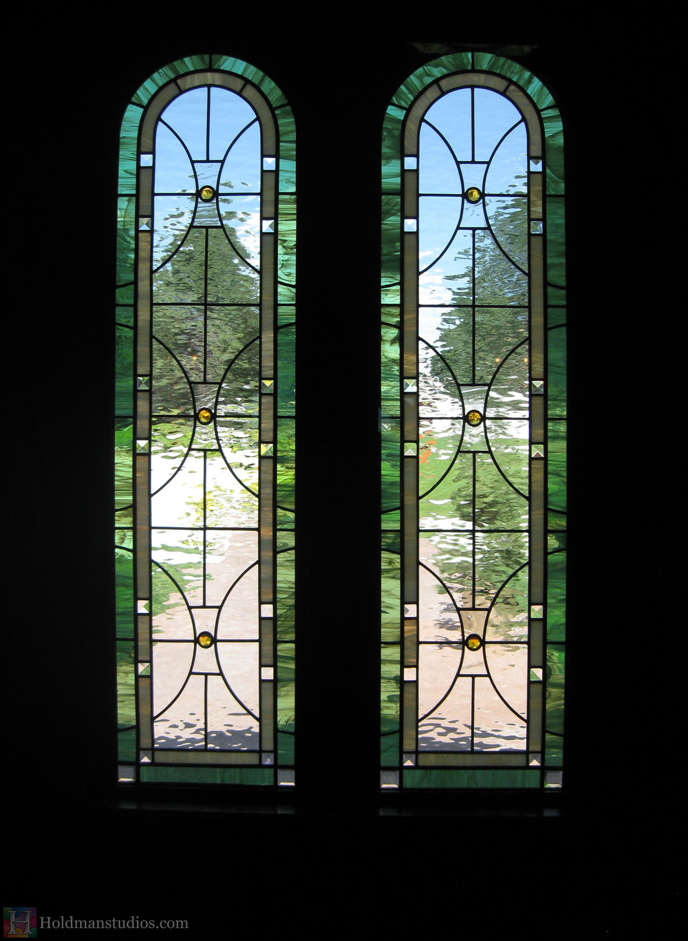 Holdman-studios-stained-glass-front-door-windows-utah-valley-university-alumni-house.jpg