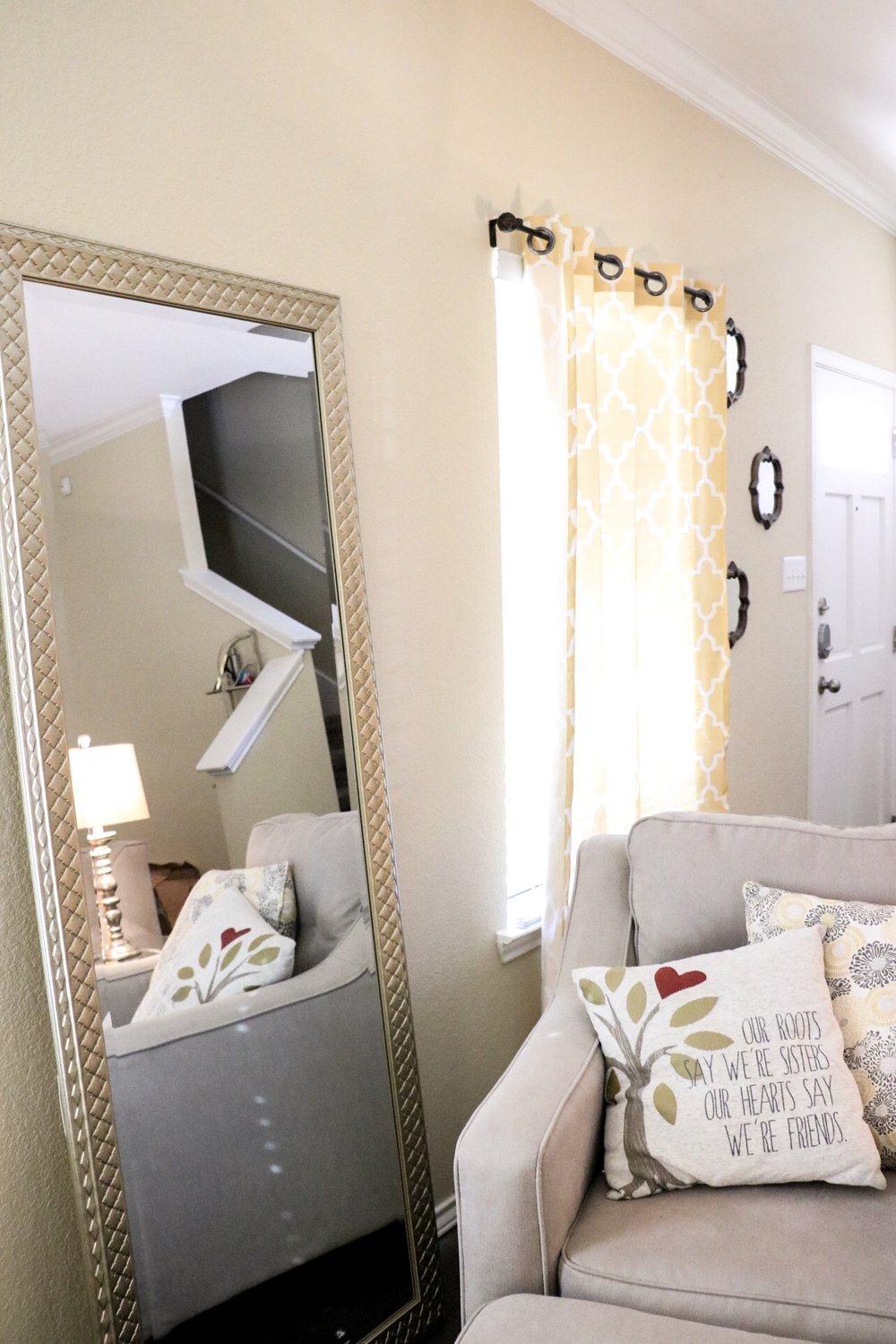 If you can't already tell by now, we love HomeGoods. We also got this wall mirror there too!  This one  is similar.