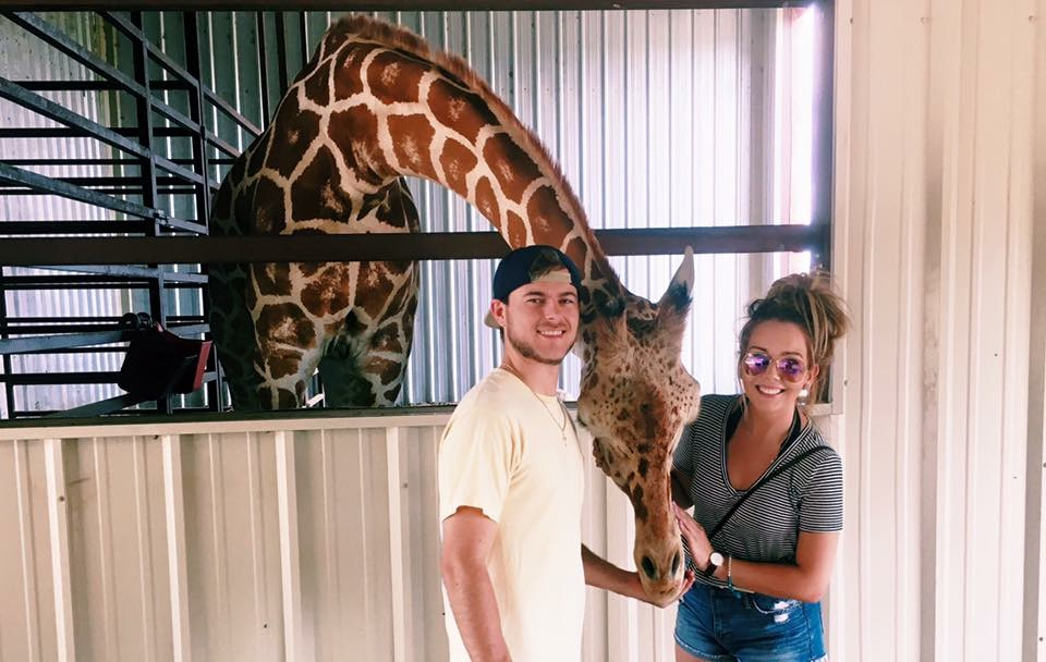 This was when we took a little road trip to the Franklin Drive Thru Safari where my car got torn up by a camel..... But my favorite animal is a Giraffe so this part was a blast!