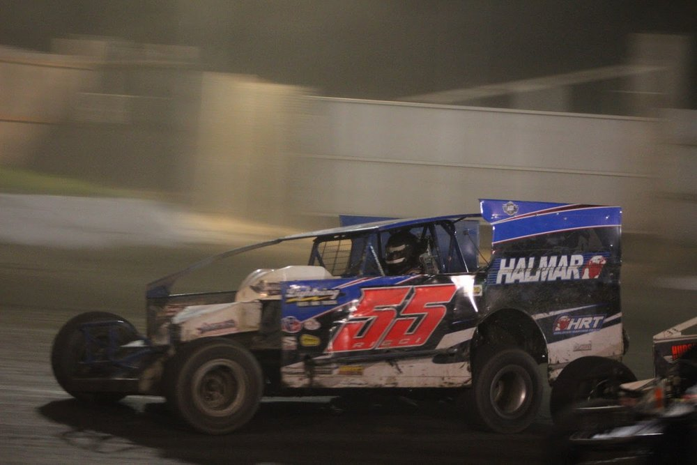 Allison Ricci ESW : STSS Hard Clay Finale - With over 70 Modifieds in attendance, just making the show was priority for Allison and the #55 Halmar International race team.Allison made her way into the Hard Clay through the consolation race combined with a WIN in the three lap three car dash..