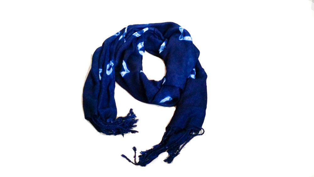 INDIGO SCARF Handwoven, hand dyed in Burkina Faso.
