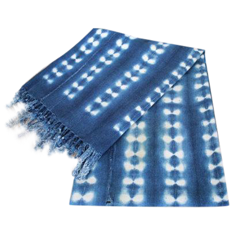 VINTAGE INDIGO THROW   Traditional vintage Malian indigo, hand woven and dyed.