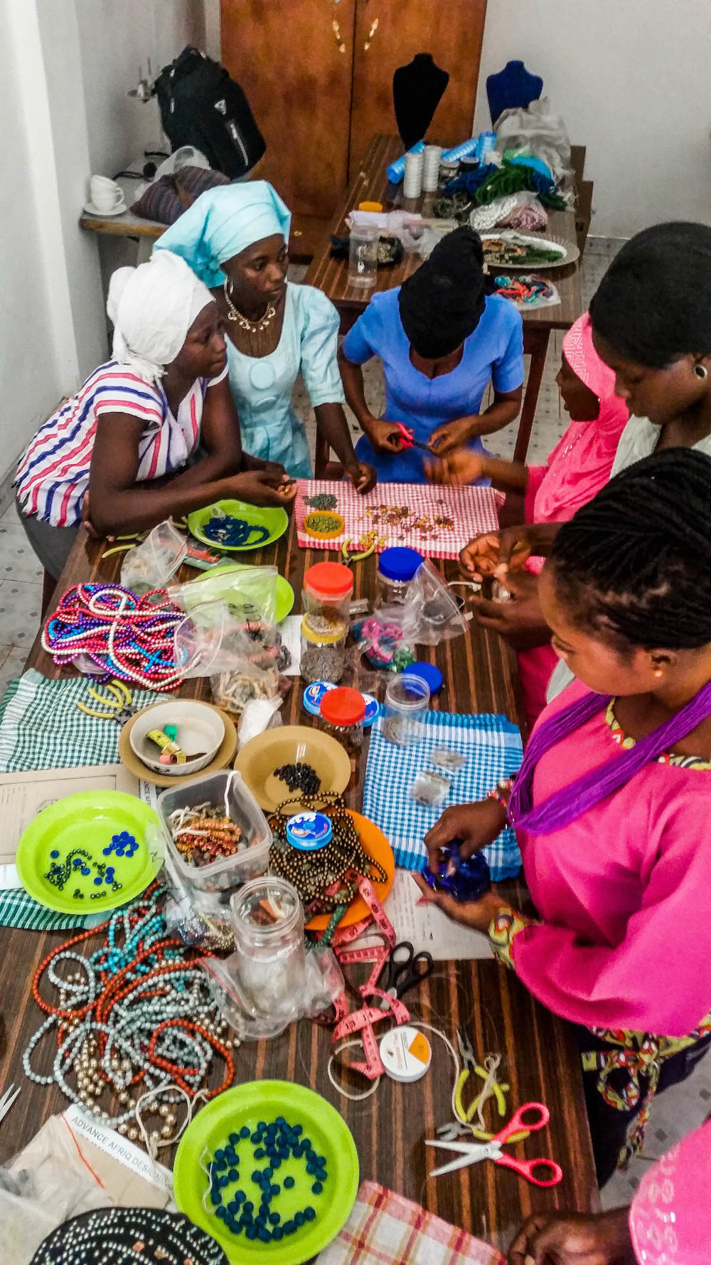 The Design Training School located in Ghana, where girls are trained to make a variety of design items and the business skills to launch an enterprise.